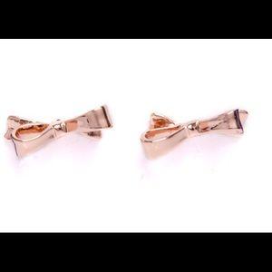 Kate Spade rose gold Take a Bow stud earrings